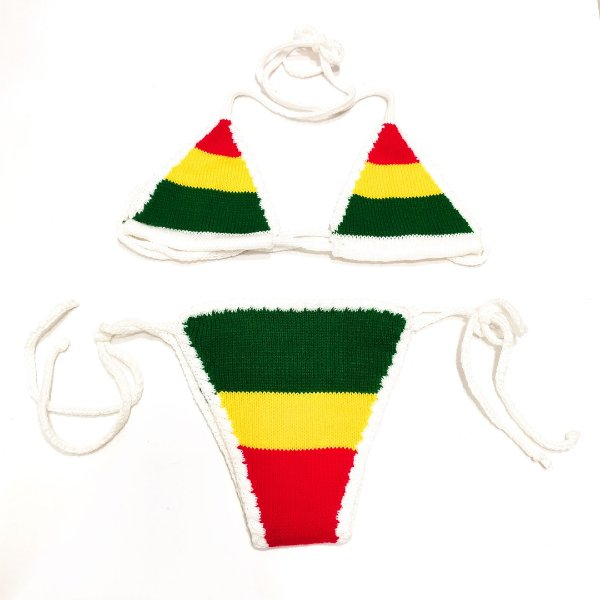 Biquíni Crochê Branco Reggae - Belli Roots