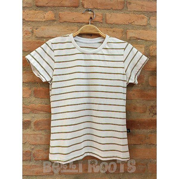 Camiseta Baby Look Listras Reggae - Belli Roots
