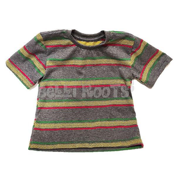 Camiseta Kids Reggae Listras - Cinza