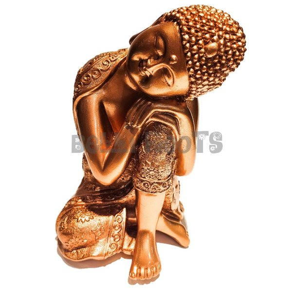 Escultura Buda Acobreado