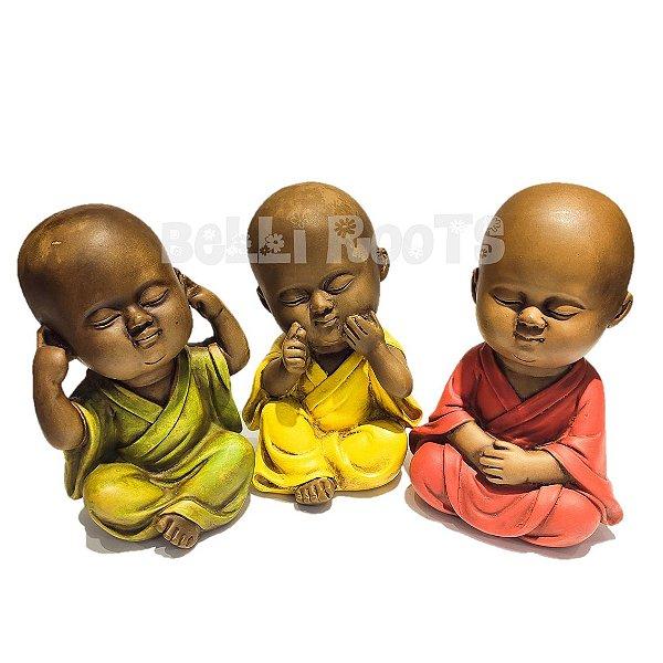 Escultura Monges Meditando