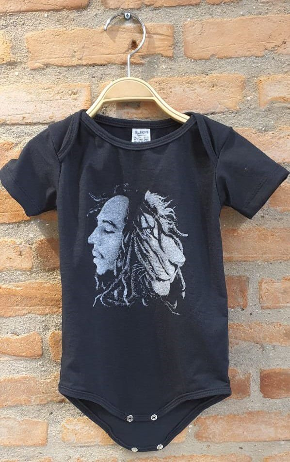 Body Baby Bob Marley - Preto
