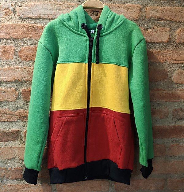 Moletom colors Reggae com zíper - Kids Belli Roots