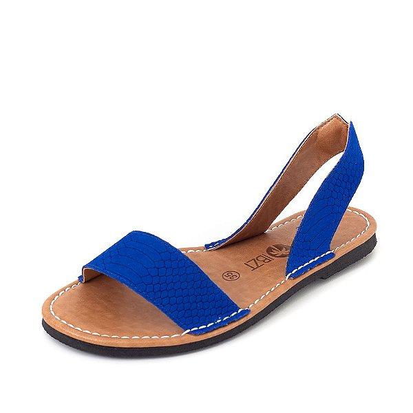 Sandália Rasteira Ibizitas Fresca Azul Bik