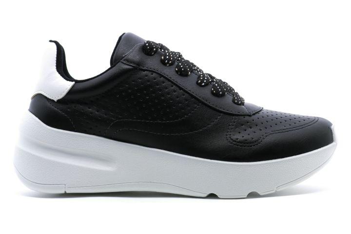 Tênis Chunky Dad Sneaker Flatform Via Marte 18-18601 Feminino - Preto com Branco