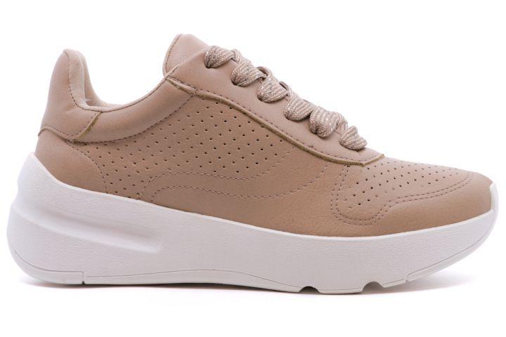 Tênis Chunky Dad Sneaker Flatform Via Marte 18-18601 Feminino - Amêndoa