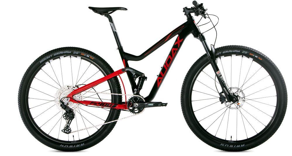Audax FS400 Full Deore Preto Vermelho