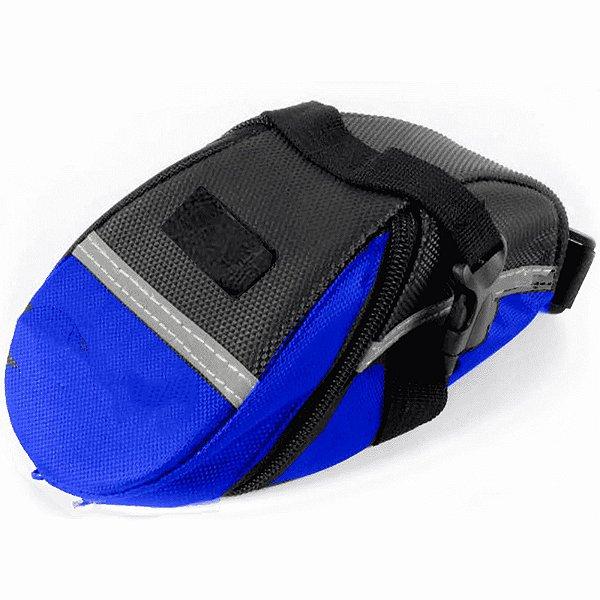 Bolsa de Selim Reforçada Preto e Azul
