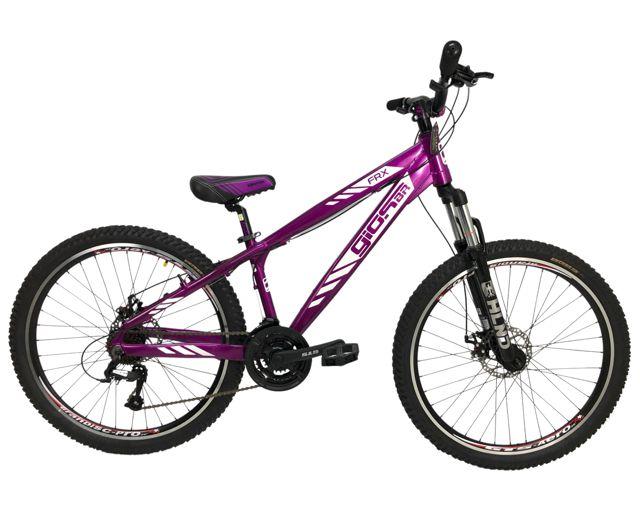 Bicicleta Aro 26 Gios FRX Roxo e Preto