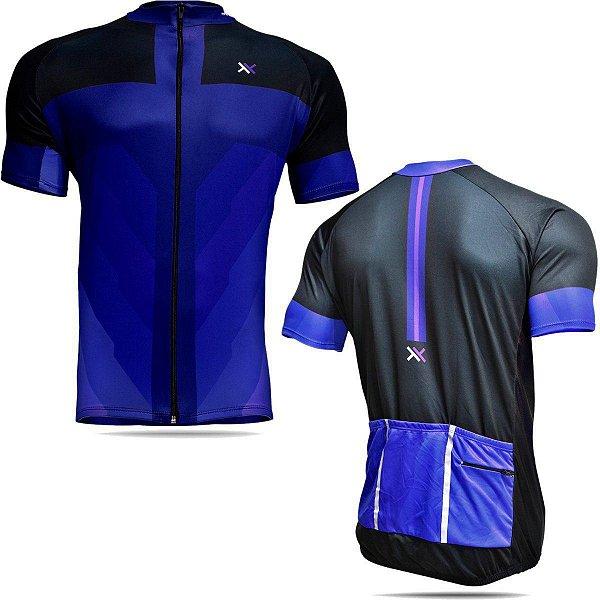 Camisa Mattos Racing Bike Azul e Preto
