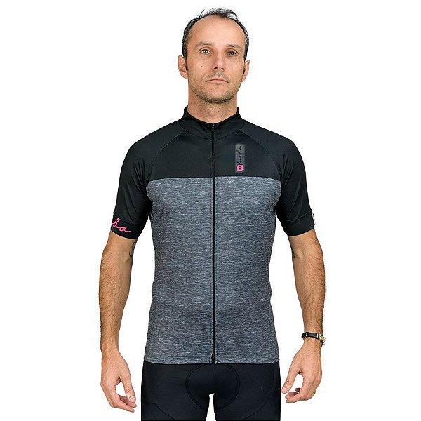 Camisa Furbo Unissex Concept Cinza e Preto