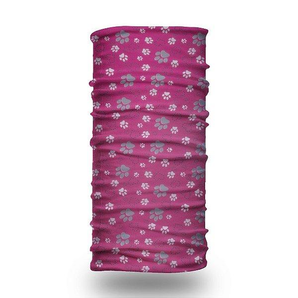 Bandana Brazil Rosa e Branco Pink Paws