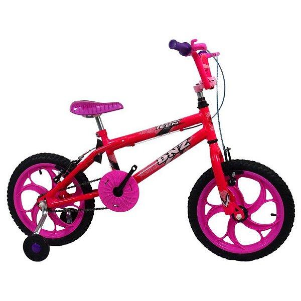 Bicicleta Aro 16 DNZ Teen Pink e Rosa