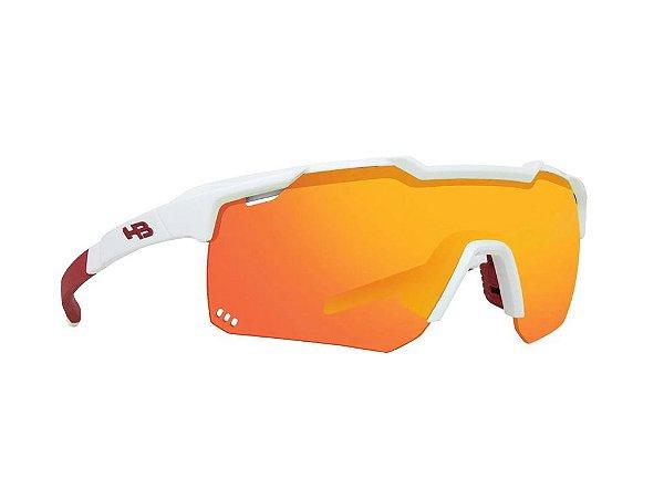 Óculos HB Shield Evo R Pearled White Multi Red