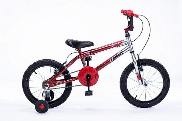 Bicicleta Aro 16 DNZ Freestyle Vermelho e Aluminio