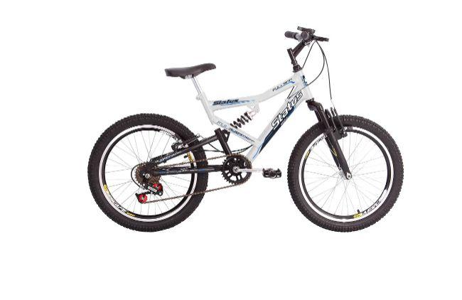 Bicicleta Aro 20 Status Full Fullsion 6V Branco