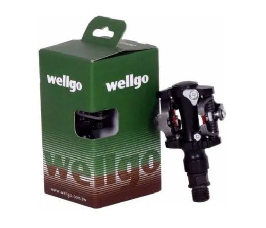 Pedal MTB Wellgo WPD-823 S/Refletor Preto