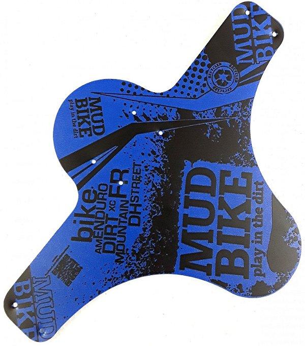 Paralama Dianteiro MudBike Azul/Preto
