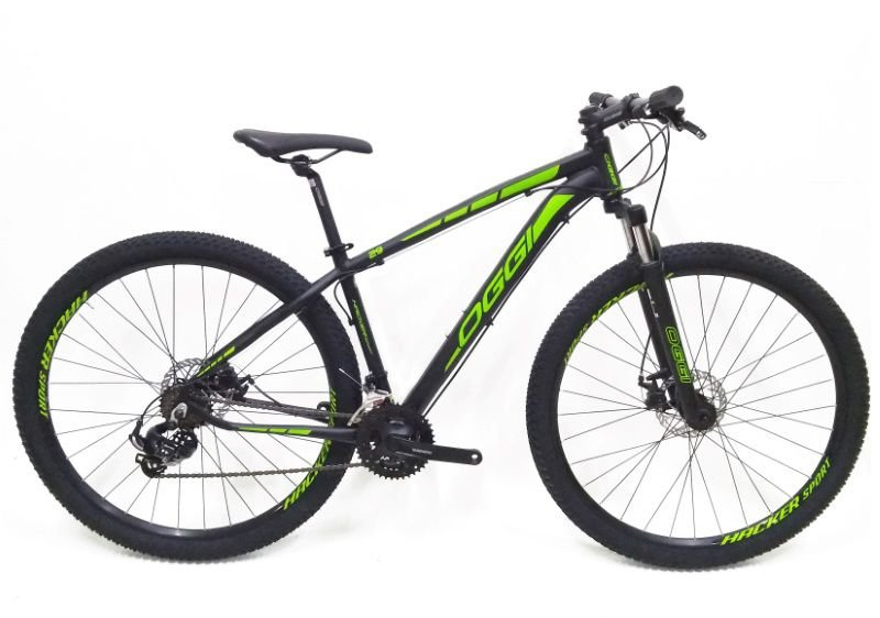 Bicicleta Oggi Hacker Sport Preto/Verde