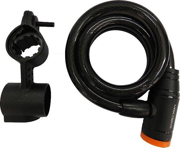 Cadeado Espiral 12X1000 C/Sp Fume C/Chav Maxtrava Bike