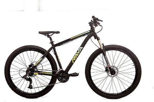 Bicicleta Aro 29 Tsw Rava Pressure Preto/Verde/Azul  21V Hidraulico 12143