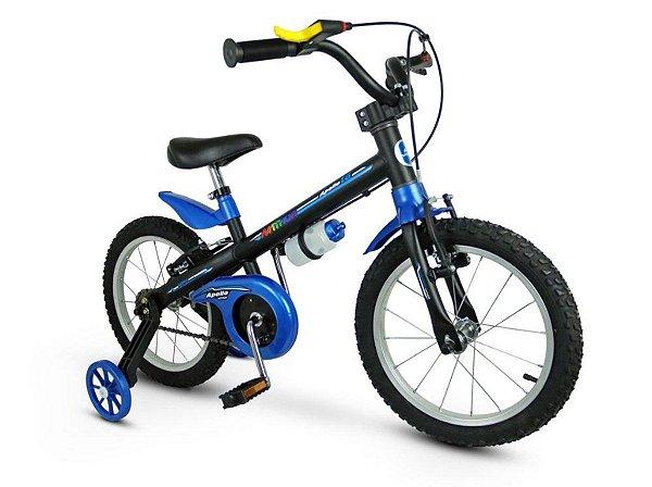 Bicicleta Aro 16 Nathor Apollo Preto e Azul