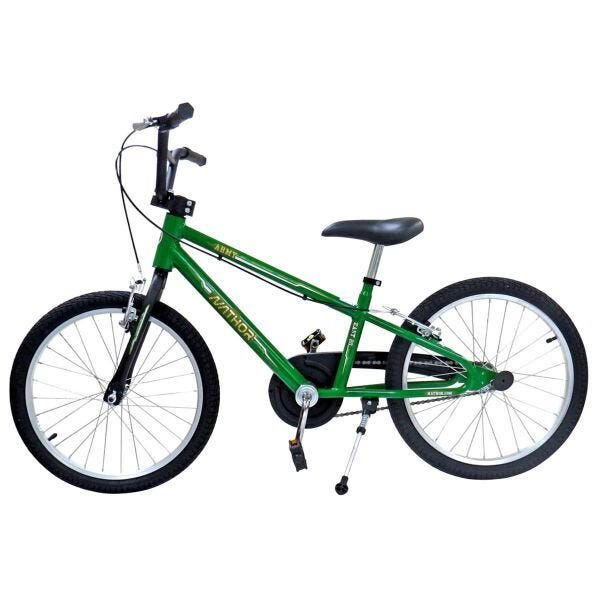 Bicicleta Aro 20 Nathor Army Verde