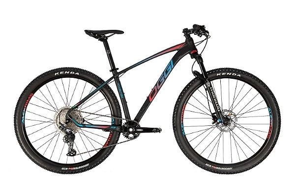 Bicicleta Aro 29 Oggi Big Wheel 7.3 (2021) 12V Preto/Vermelho/Azul