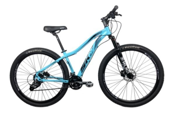 Bicicleta Aro 29 Sky 24V (F) Azul/Preto Hidraulico