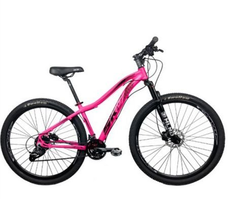 Bicicleta Aro 29 Sky 24V (F) Pink/Preto Hidraulico