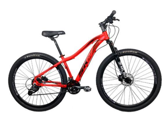 Bicicleta Aro 29 Sky 24V (F) Vermelho/Preto Hidraulico