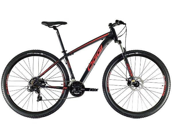 Bicicleta Oggi Hacker Sport Preto e Vermelho