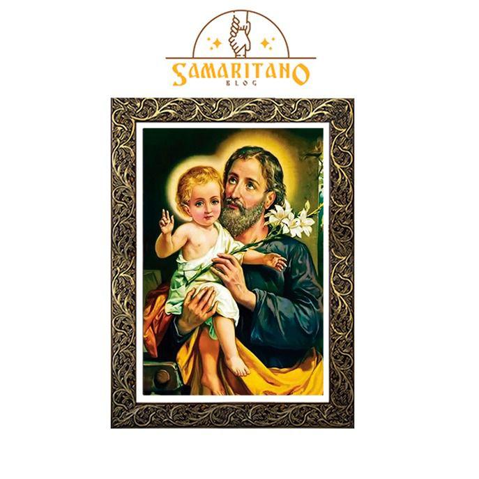 Quadro São José com Menino Jesus