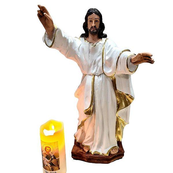 Jesus Ressuscitado 35cm resina
