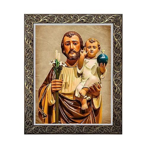 Quadro São José com Menino Jesus 6