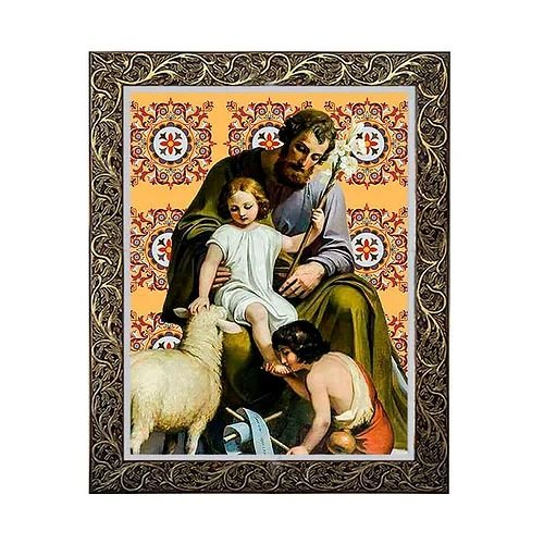 Quadro São José com Menino Jesus 4