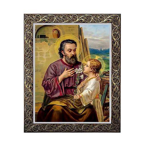 Quadro São José com Menino Jesus 5