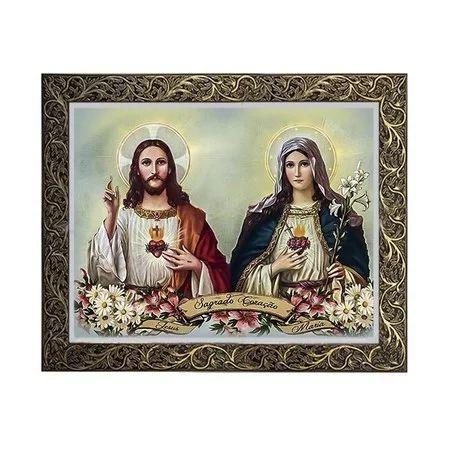 Quadro do Sagrado Coração de Jesus e Maria 2