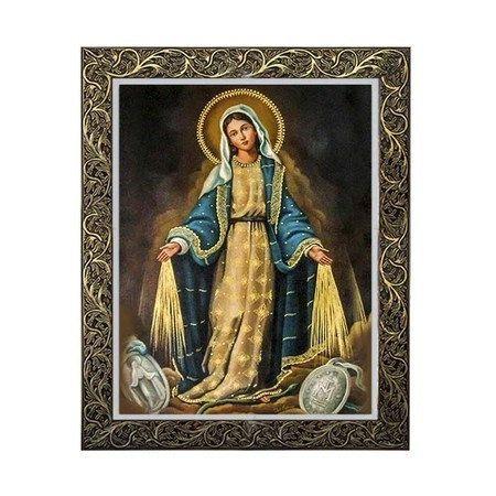 Quadro Nossa Senhora das Graças com Medalha Milagrosa 1