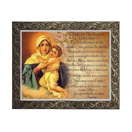 Quadro Nossa Mãe Rainha 3 com Oração