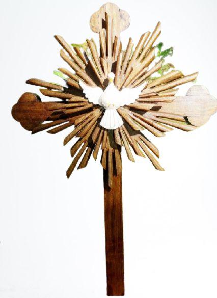 Cruz Divino Espírito Santo de Mesa 62 cm