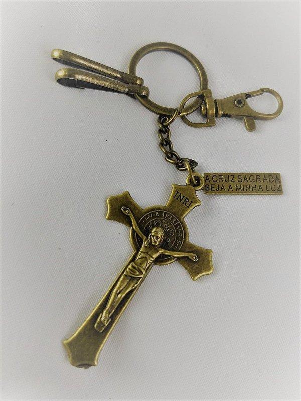 Chaveiro Ouro Velho Crucifixo de São Bento