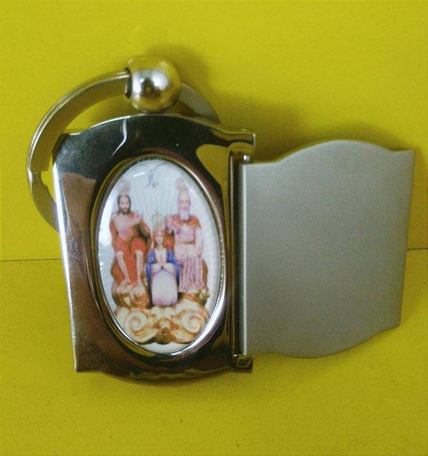 Chaveiro e Porta Foto Inox Divino Pai Eterno