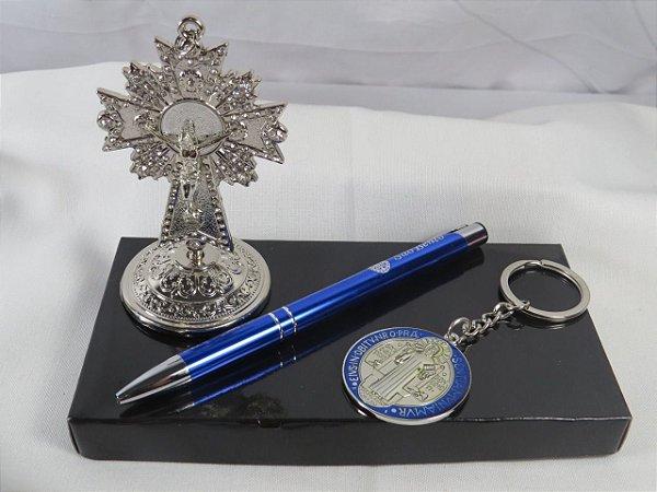 Kit São Bento Crucifixo e Chaveiro/Caneta
