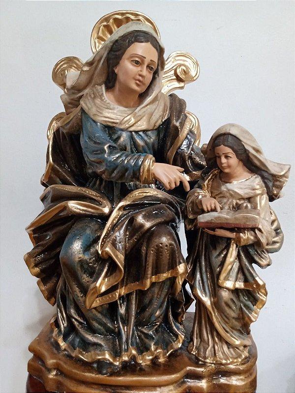 Santa Ana e Nossa Senhora Barroca 52 cm