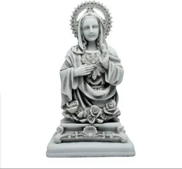Busto Sagrado Coração de Maria Mármore 25 cm Flor