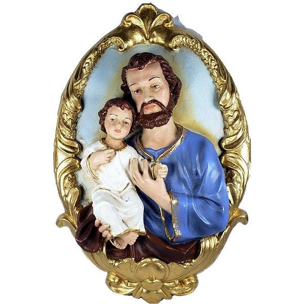 Medalhão de Parede São José 40 cm