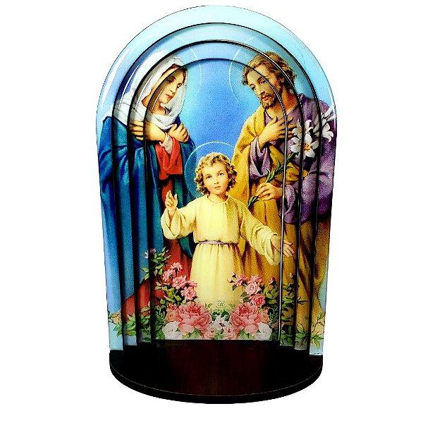 Capela Sagrada Família MDF 24cm 3D