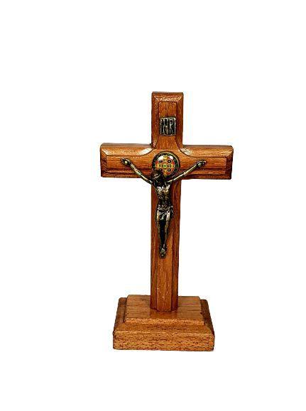 Crucifixo Madeira São Bento 10cm