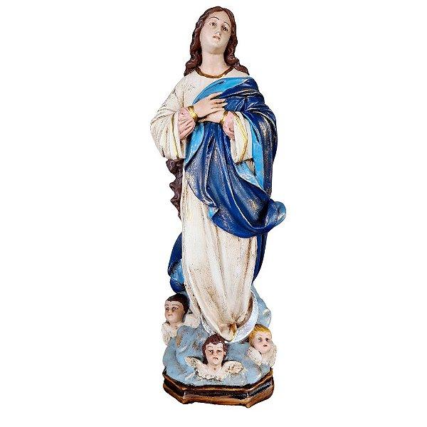 Imaculada Conceição de Maria resina 40 cm